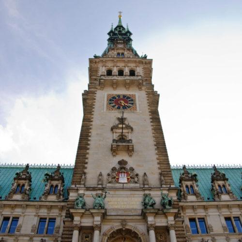Hamburger Rathaus, Außenansicht
