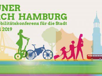 """Ankündigung der Veranstaltung """"Grüner durch Hamburg - die Mobilitätskonferenz für die Stadt"""" am 12. April 2019"""