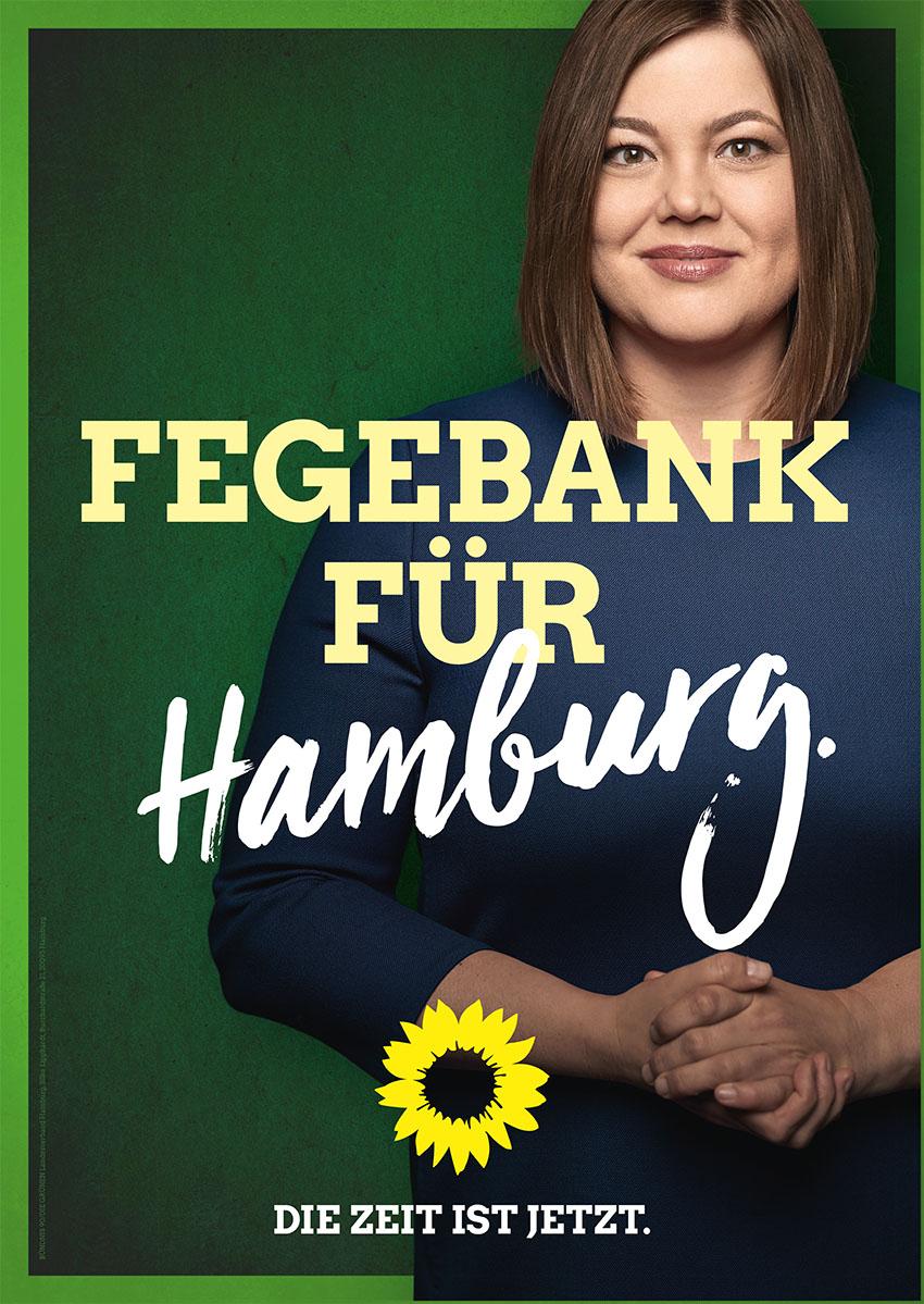 Bild eines Plakates Text: Fegebank für Hamburg