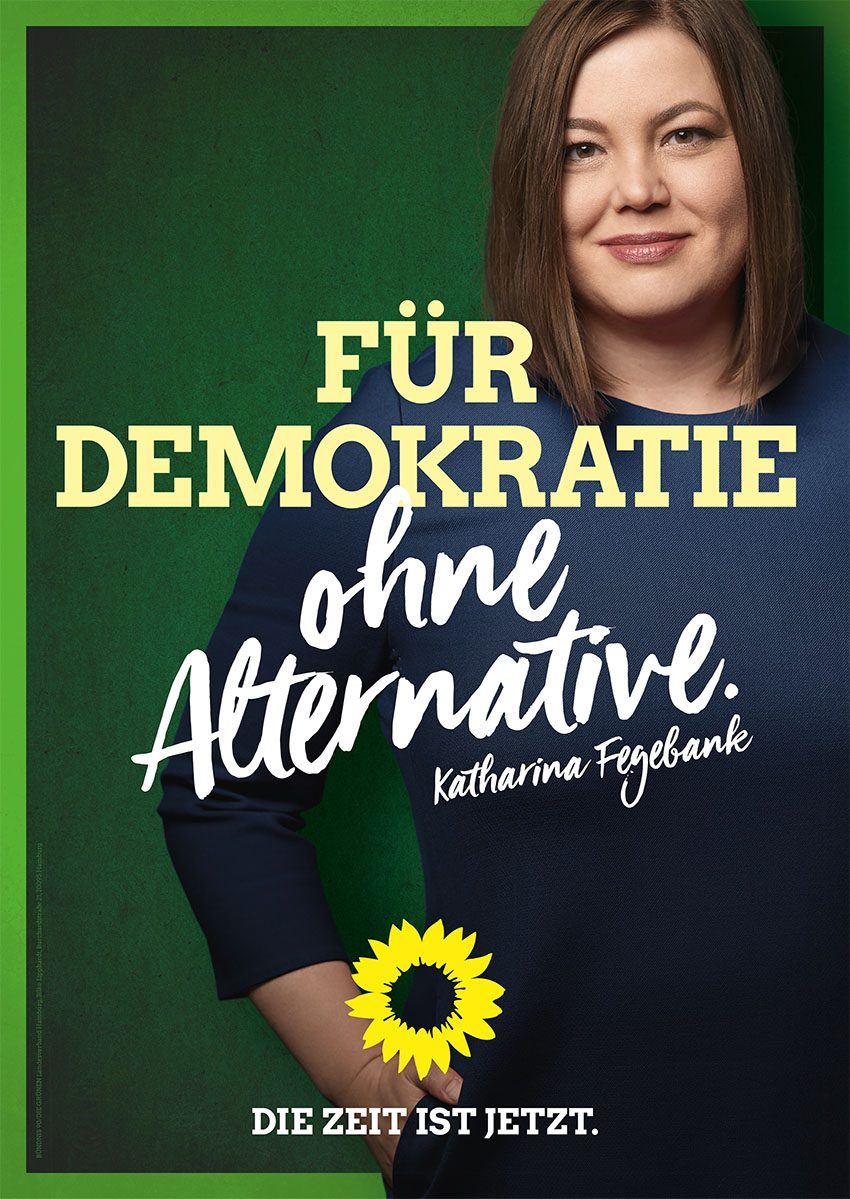 Bild eines Plakates: Für Demokratie ohne Alternative